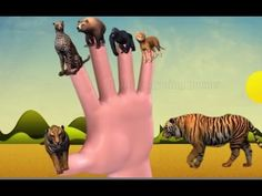 Tiger and king kong Finger family nursery kids 3d animated rhyme | Finge...