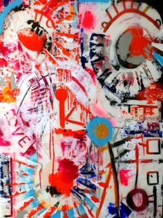 "Saatchi Art Artist bridget griggs; Painting, ""Love Spelt Backwards"" #art"