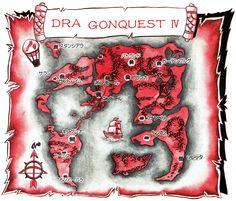 Dragon Quest II Gods Of The Evil Spirits Maps Pinterest - Us map dragon