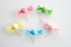 Candy cupcake toppers - adorable!