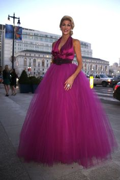 Karen Caldwell in gown of her own design during the San Francisco Ballet 2015 Opening Night Gala in San Francisco, Calif. on Thursday, January 22, 2015. Photo: Scott Strazzante, The Chronicle