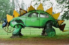 Volkswagen Beetle Stegosaurus Sculpture#Repin By:Pinterest++ for iPad#