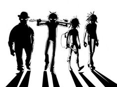 Gorillaz as a clockwork orange with the homless