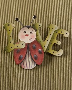 Lady bug pin