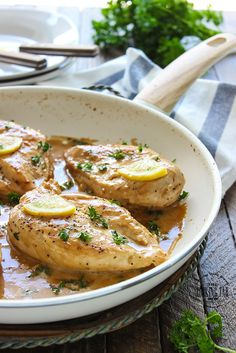 Chicken Breasts in Creamy Lemon Sauce