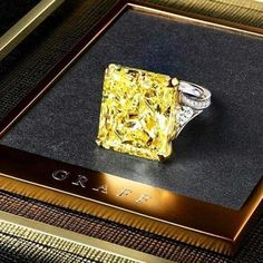 Yellow diamond rings are awesome alternatives to traditional transparent stones. Check out our photo gallery, preferably in front of you bae. Yellow Diamond Engagement Ring, Yellow Diamond Rings, Yellow Diamonds, Belly Rings, Luxury Jewelry, Ring Designs, Diamond Jewelry, Jewelry Design, Bling