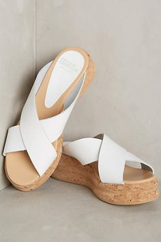 Andre Assous Brook Platforms White 39 Euro Wedges