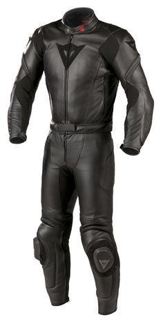 The Dainese Two-Piece Race Suit is a piece of gear that serves two purposes, the upper jacket portion of the suit can be worn separately as a jacket. Motorcycle Suit, Motorcycle Equipment, Bike Leathers, Biker Gear, Leather Jacket Outfits, Body Armor, Armor Suit, Riding Gear, Super Bikes