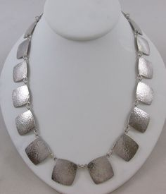 MODERNIST NAVAJO P. EMERSON HAND HAMMERED STERLING SILVER NECKLACE