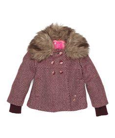 Soft Pink Bo Wool Jacket - Girls