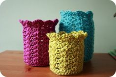 Coffee 'n' crochet: Pretty Jars