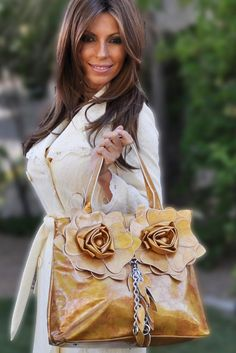 Fashion is My Bag - 3D Twin Flower Patent Tote Bag - Gold, $59.00 (http://www.fashionismybag.com/arianna-twin-flower-patent-tote-bag-gold/)