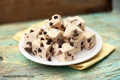 Chocolate Chip Cookie Dough Fudge Recipe by Buns In My Oven