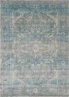 Loloi Rug Anastasia teals, blues and tans. available on Amazon.
