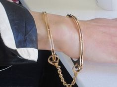 Love this handcuff bracelet. Thanks @Sarah Dill this SCREAMS you!
