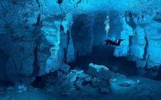 Worlds largest underwater gypsum cave. Orda Cave #Russia