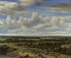 An Extensive Landscape with a Road by a River  1655, Philips Koninck