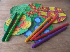 Mandalas zum Ausdrucken und Ausmalen für Kinder im Kindergarten