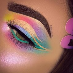 Make-up Looks Make-up-Pinsel-Set Make-up jeffree star Make-up wie Mila Kunis Make-up Video meines # Augen Make-up Tutorial zu Augen Make-up mit Augen Make-up Makeup Eye Looks, Eye Makeup Art, Colorful Eye Makeup, Eye Makeup Tips, Pretty Makeup, Eyeshadow Makeup, Mac Makeup, Makeup Ideas, Beauty Makeup
