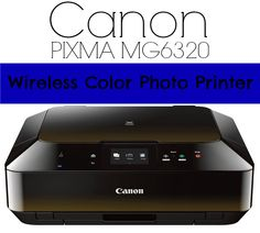 Canon PIXMA MG6320 Wireless Color Photo Printer, Scanner & Copier #Canon