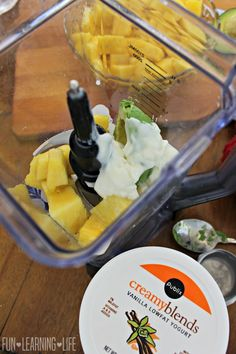 Pineapple Avocado Smoothie Recipe! - Fun Learning Life Healthy Drinks, Healthy Tips, Healthy Recipes, Avacado Smoothie, Low Fat Yogurt, Green Smoothies, Fresh Fruits And Vegetables, Holiday Drinks, Fun Learning