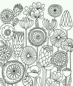 Instantaneous Obtain Digital Collage Sheet Conventional Folks Artwork Embroidery 1 x 1 inch 25 mm circles JPGPNG photographs Colouring Pages, Adult Coloring Pages, Coloring Books, Doodle Coloring, Coloring Sheets, Kids Coloring, Mandala Coloring, Folk Embroidery, Embroidery Patterns