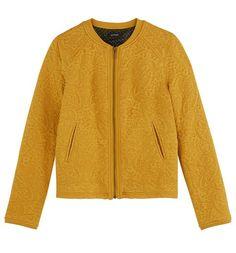 Sweatshirt  style jacket ochre - Promod