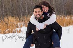 {Ash & Melissa} Woodland Couple Session – Calgary Couple Photographer   Paisley Photography - winter couple photography- Snowy engagement photos- Forest Family Photography