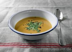 Suppe von gebackenen Süßkartoffeln und Kokosmilch / Soup from Sweet Potatos and Coconut Milk
