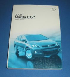 2008 Mazda CX-7 Owners Manual Book Guide