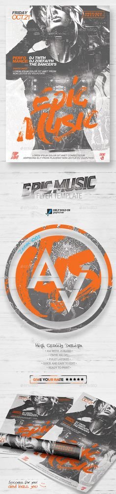 Epic Music Flyer Template V2