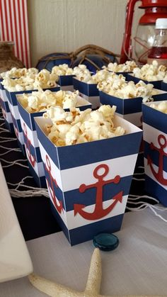 Nautical Popcorn Boxes