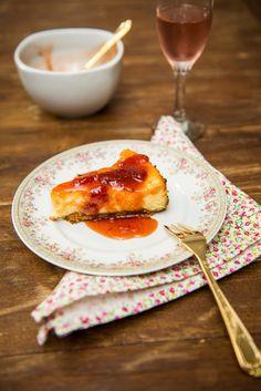 Cheesecake clássico com calda de morango - O chef e a chata