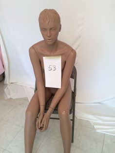 Pre-Owned Seated Rootstein Abstract Mannequin #53 - Girl Thing Series