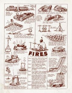 Fires are key to survival.... knowing how to make different fires for different situations could make all the difference. #bushcraft