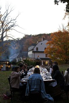 How about Thanksgiving dinner outside this year?  Depends on the weather in your part of the world I know, but it sounds good to me! Just an idea!