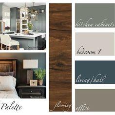 Interior Paint Palettes, Paint Color Palettes, Paint Color Schemes, House Color Palettes, Interior Paint Colors, Interior Design, Coastal Paint Colors, Warm Paint Colors, Neutral Paint