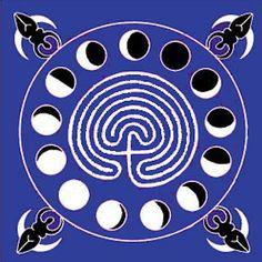 Goddess Labyrinth Altar Cloth/Scarf