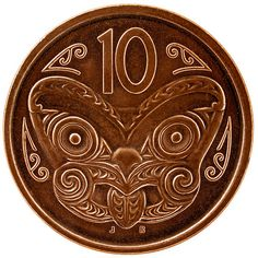 "New Zealand 10cent piece NZ went decimal - ""the 10th. of July next year "" - 1967"