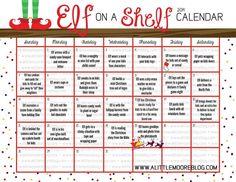 Elf on the Shelf 2014 Calendar