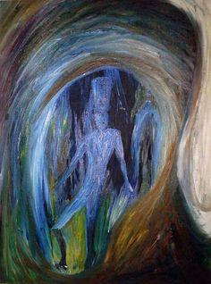 Óleo sobre Canvas, 1976, Medidas: 1/4, Obra sin Título. Autor: Gianni Fedele Mazza. Propiedad Sra. Carmen Castro de Ruiz.