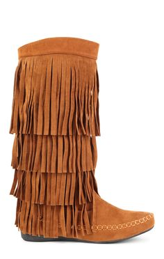 Deb Shops tall flat fringe boot $44.50