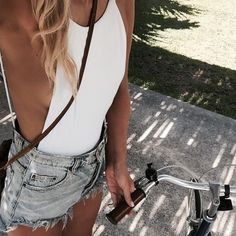 Denim + Lace :: Boho Style :: Festival :: Shorts + Cardigans :: Jackets :: Ripped Jeans :: Distressed + Tan :: Lover of Denim Style Inspiration @lovestonedco