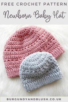 Crocheted Baby Hats, Newborn Crochet Hat Pattern, Baby Knitting Patterns Free Newborn, Crochet Toddler Hat, Newborn Knit Hat, Preemie Crochet, Crochet Hats For Boys, Easy Crochet Hat, Crochet Baby Beanie