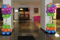 Party People Celebration Company - Special Event Decor Custom Balloon decor and Fabric Designs: Neon Prom