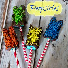 Peepsicles - Chocolate dipped  Peeps for  Easter