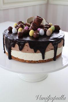 Kinderjuustokakku - Vaniljapullan keittiössä - Vuodatus.net Tiramisu, Cheesecake, Easter, Sweets, Baking, Ethnic Recipes, Desserts, Food, Tailgate Desserts
