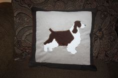 English Springer Spaniel couch pillow  MyLittleEndurance.etsy.com