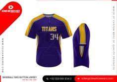 Promotional Price Baseball Two Button Shirt Baseball Jersey Wholesale Jersey Custom Baseball Jersey Team Uniforms