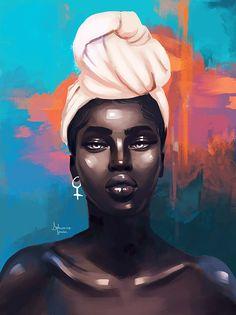 Artist delmaine donson nzuri in 2019 art, black love art, black girl ar Art Black Love, Black Girl Art, Art Girl, Black Art Painting, Black Artwork, Dope Kunst, Art Amour, Arte Black, African Art Paintings